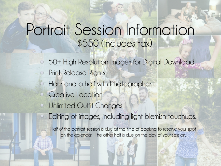Katie McCaw Photography pricing